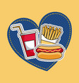 patches fast food vector image
