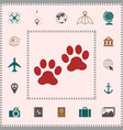paws icon symbol elements for your design vector image