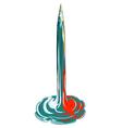 pencil rocket takeoff vector image vector image