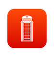 phone booth icon digital red vector image vector image