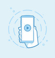 play icon on smartphone screen vector image