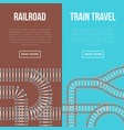 railroad and train travel banners vector image vector image