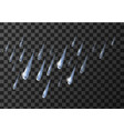 rain weather meteo icon falling water droplets vector image