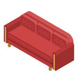red sofa icon isometric style vector image