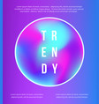 retro 80s 90s style modern holographic cover vector image vector image