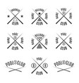 set emblems billiard club vector image vector image