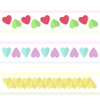 Several variants of hearts vector image vector image