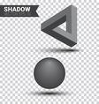 Shadow effect vector image