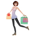 Shopping Girl with Bags5 vector image