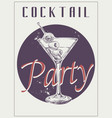 sketch martini cocktails with olives hand vector image vector image