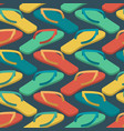 slippers seamless pattern summer shoes ornament vector image vector image