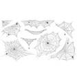 spider web silhouette hanging cobweb with venom vector image