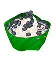 Sticky Rice and Black Beans in Coconut Milk vector image vector image