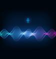 voice assistant concept sound wave vector image