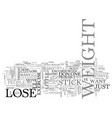 why cant i lose weight right now text word cloud vector image vector image