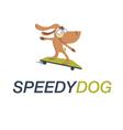 Cartoon Dog on skateboard vector image