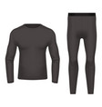 3d or realistic thermal wear front and back view vector image vector image