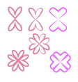 a set of hearts isolated on a white background vector image