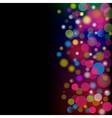 Abstract color background with circles vector image