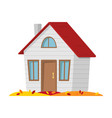 autumn landscape country house in the autumn vector image vector image