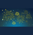 background design with fireworks in sky vector image