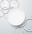 Background with paper white circles vector image