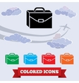 Baggage icon Hand luggage traveling symbol vector image vector image