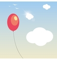 balloon in the sky vector image vector image