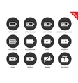 Battery charge levels icons on white background vector image vector image