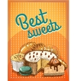 Best sweets pastry poster vector image vector image