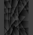 black abstract tech polygonal fragments background vector image vector image