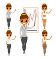business woman flat characters construction vector image