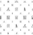career icons pattern seamless white background vector image vector image
