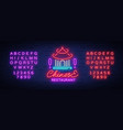 chinese restaurant is a neon sign vector image vector image
