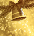 Christmas card background golden vector image