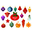 christmas ornament ball and new year bauble icon vector image