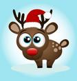 christmas reindeer christmas card vector image vector image