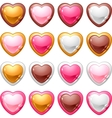 Collection of icons with a shiny glossy hearts vector | Price: 1 Credit (USD $1)