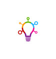 color idea logo icon design vector image
