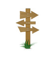 crossroad direction signpost vector image vector image