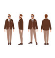 cute bearded man or clerk dressed in elegant smart vector image