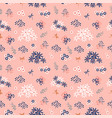 Flowers blooming garden seamless pattern