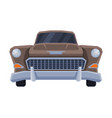 front view retro car vintage vehicle flat vector image