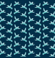 green birds flying decoration pattern blue vector image