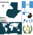 Guatemala map world vector image vector image