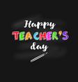 happy teachers day banner vector image vector image