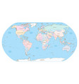 highly detailed political world map eps 10 vector image vector image
