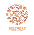 in circle shape of logistics and vector image vector image