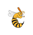 Killer Bee Baseball Player Bat Cartoon vector image vector image