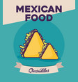 mexican food design vector image vector image